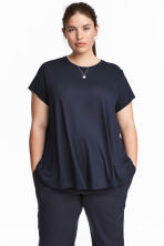H&M+ Jersey top - Dark blue - Ladies | H&M CN 1