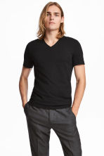 3-pack T-shirts Slim fit - Black - Men | H&M CN 1