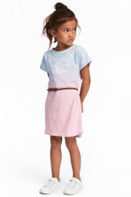 Jersey dress with print motif - Pink/Multicoloured - Kids | H&M 1
