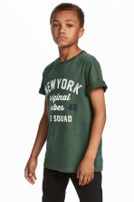T-shirt with Printed Design - Green - Kids | H&M CA 1