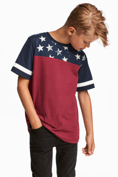 T-shirt with Printed Design - Red/blue - Kids | H&M CA 1