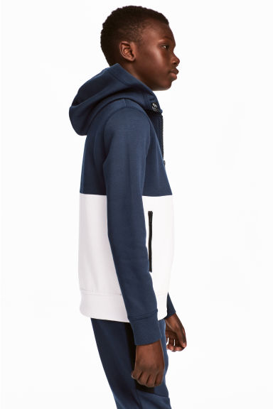 Hooded jacket - Dark blue/White - Kids | H&M 1