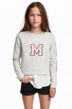 Sweatshirt with Printed Design - Gray - Kids | H&M CA 1