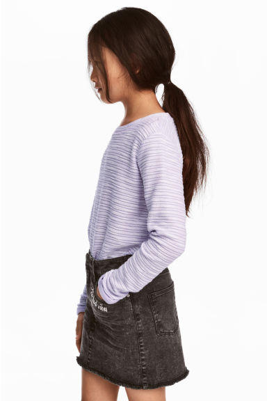 Tricot top - Paars -  | H&M NL 1
