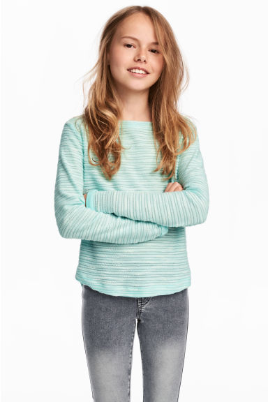 Jersey Top - Turquoise - Kids | H&M CA