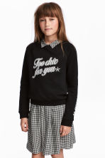 Sweatshirt with Motif - Black - Kids | H&M CA 1