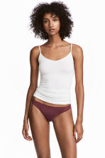 Set van 3 slips - Thong - Bordeauxrood/poederroze - DAMES | H&M BE 1