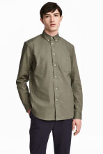 Camisa Oxford Regular fit - Verde caqui - HOMBRE | H&M ES 1