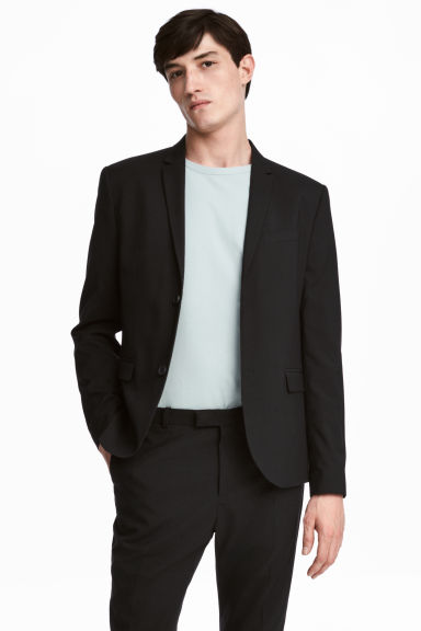 Jacket Skinny fit - Black - Men | H&M 1