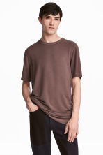 Modal jersey T-shirt - Dark mole - Men | H&M CN 1