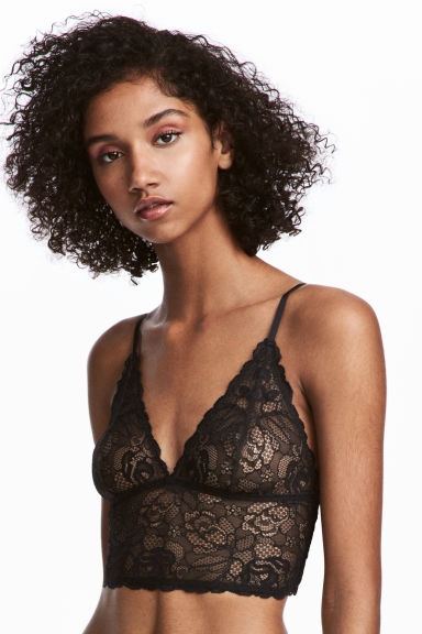 Lace Bralette - Black - Ladies | H&M CA