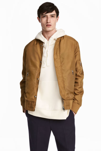 Nylon bomber jacket - Camel - Men | H&M IE 1