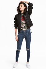 Super Skinny Ankle Jeans - Dark denim blue - Ladies | H&M 1