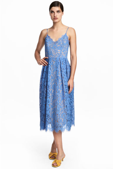 Lace Dress - Blue -  | H&M CA