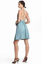 Short satin dress - Light turquoise -  | H&M 1