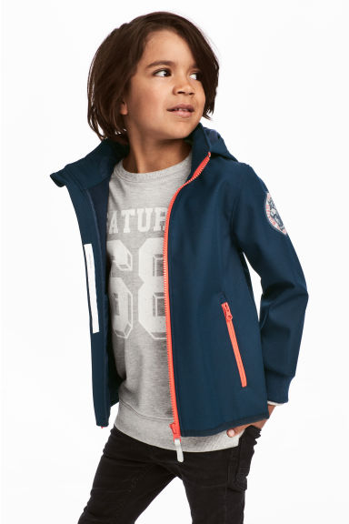Softshell jacket - Dark blue/Tiger - Kids | H&M 1
