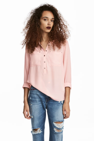 Crêpe bloes - Lichtroze - DAMES | H&M BE 1