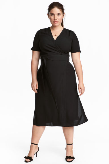 H&M+ Wrap-front Dress Model