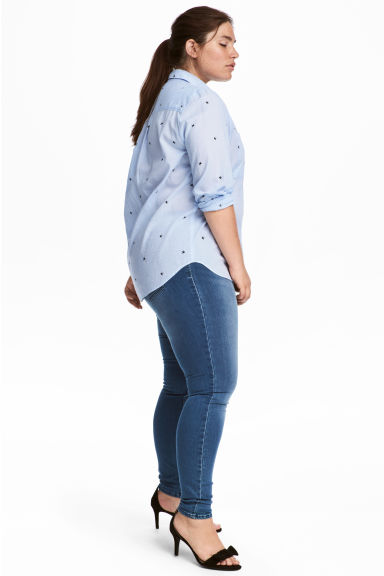 H&M+ Superstretch-Treggings - Blau/Gewaschen - DAMEN | H&M CH 1