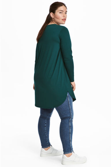 H&M+ Tunica in jersey - Verde scuro - DONNA | H&M IT