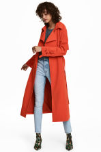 Trenchcoat - Bright red - Ladies | H&M CN 1