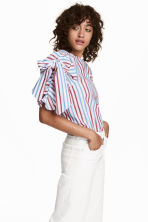 Striped blouse - White/Striped - Ladies | H&M 1