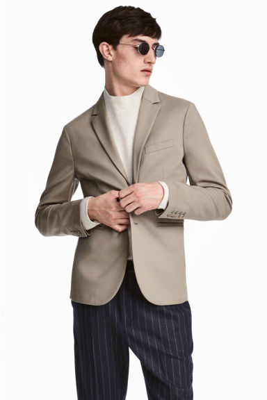 Nylon-blend Blazer Slim fit Model