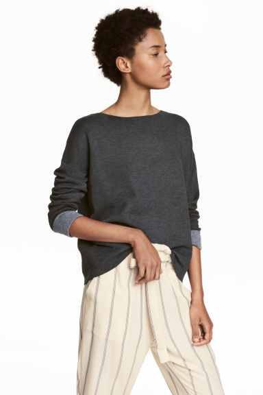 Knit Wool-blend Sweater Model
