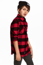 Flannel shirt - Red/Checked -  | H&M 1