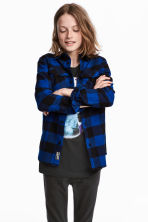 Flannel shirt - Blue/Checked -  | H&M 1