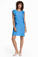 Frilled dress - Light blue - Ladies | H&M 1