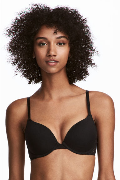 Set van 2 push-up beha's - Wit/zwart - DAMES | H&M BE 1