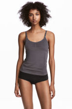 2-pack seamless nursing tops - Black/Dusky purple - Ladies | H&M 1