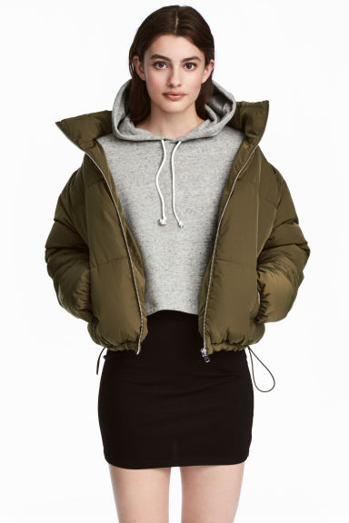 Padded jacket - Khaki green - Ladies | H&M CN