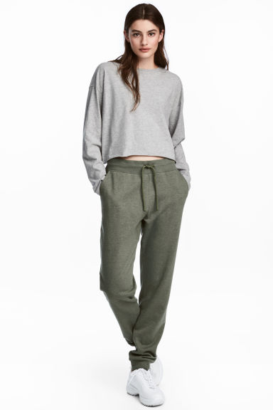 Sweatpants - Khaki green - Ladies | H&M CA