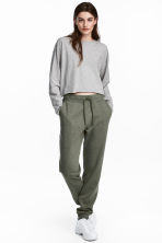 Sweatpants - Khaki green - Ladies | H&M CN 1