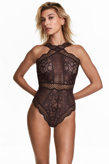 Bodysuit - Brown - Ladies | H&M CN 1