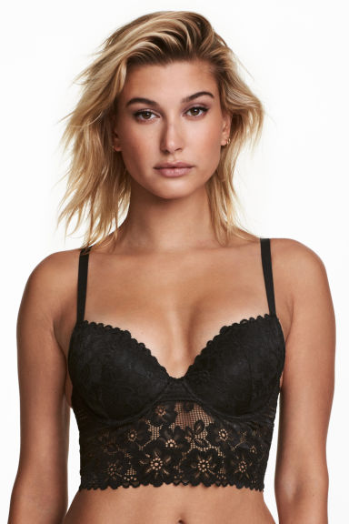 Bralette push-up de encaje Modelo