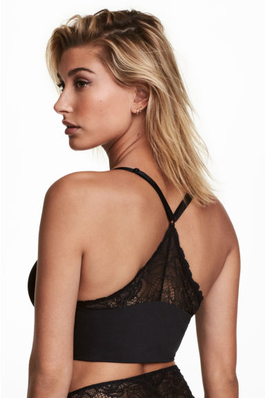 Microfibre balconette bra - Black - Ladies | H&M GB
