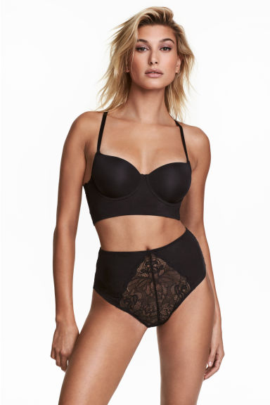 Kanten slip - High waist - Zwart - DAMES | H&M BE 1