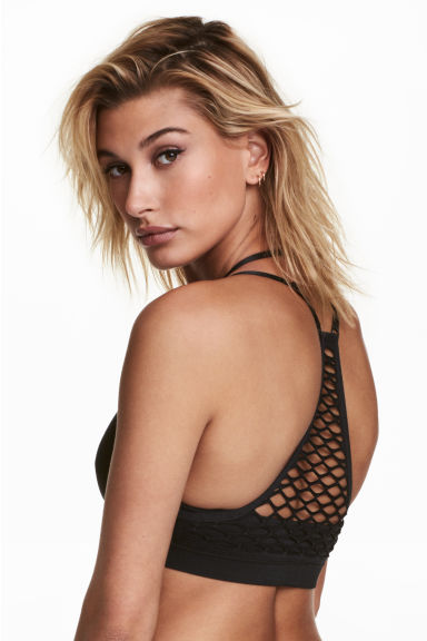 Reggiseno-top senza cuciture - Nero - DONNA | H&M IT