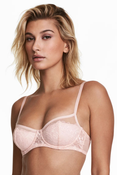 Lace balconette bra - Light pink - Ladies | H&M CN 1