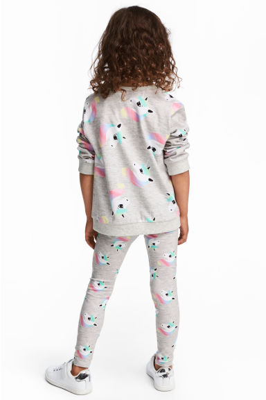 Jersey leggings - Grey/Unicorn -  | H&M 1