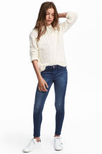 Skinny fit Satin Jeans - Dark denim blue -  | H&M CA 1