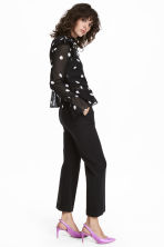 Wide suit trousers - Black - Ladies | H&M 1