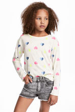 Jumper - White/Hearts - Kids | H&M CN 1