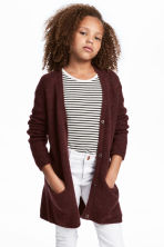 Knitted cardigan - Burgundy - Kids | H&M 1
