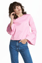 Blouse with flounced sleeves - Light pink - Ladies | H&M CN 1