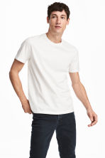 Cotton and Silk T-shirt - White - Men | H&M CA 1