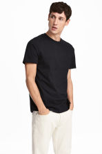 T-shirt in cotone e seta - Navy - UOMO | H&M IT 1